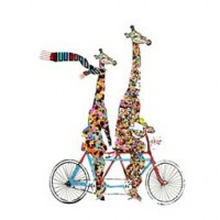 GIRAFFE & BICYCLE design