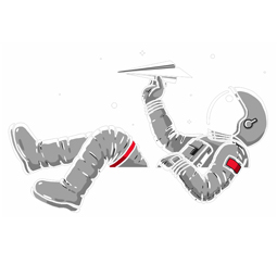 ASTRONAUT PLAYING design