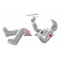 astronaut playing
