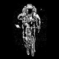 astronaut bicycling
